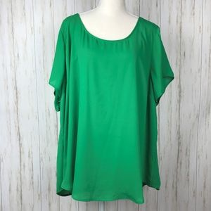 Torrid NWT Green Cage Back Blouse 4X